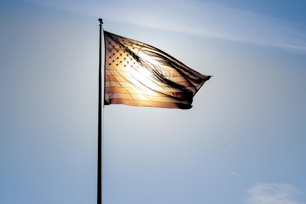American flag in LA.