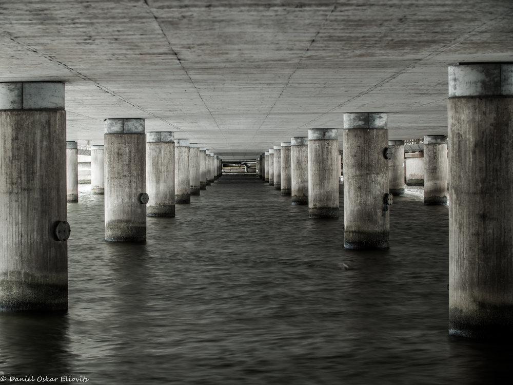 Under Centralbron in Stockholm, Sweden
