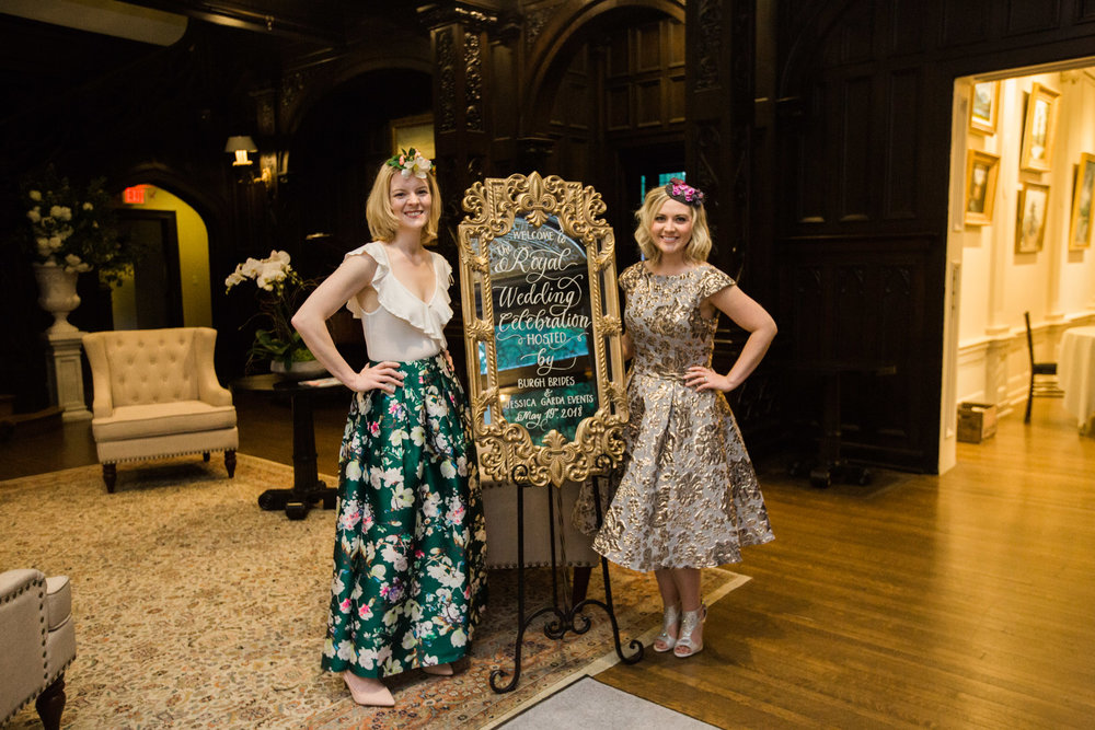 Pittsburgh Wedding Planner - Royal Wedding Watch Party - Jessica of Jessica Garda Events and Victoria of Burgh Brides at Mansions on Fifth