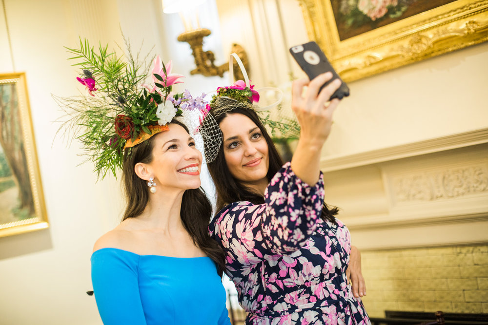 Pittsburgh Wedding Planner - Royal Wedding Watch Party - flower hat station by greensinner