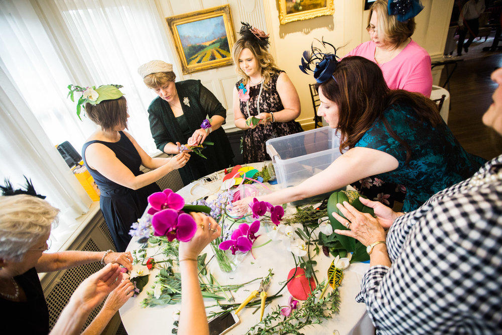 Pittsburgh Wedding Planner - Royal Wedding Watch Party - Make your Own Flower Hat Station by greensinner