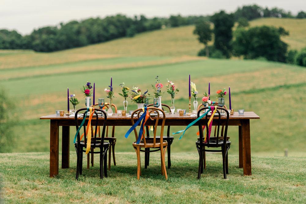 Fun & Colorful Barn Wedding Tablescape at Heaven Sent Farms in Avella Dawn Derbyshire Photography (2).jpg