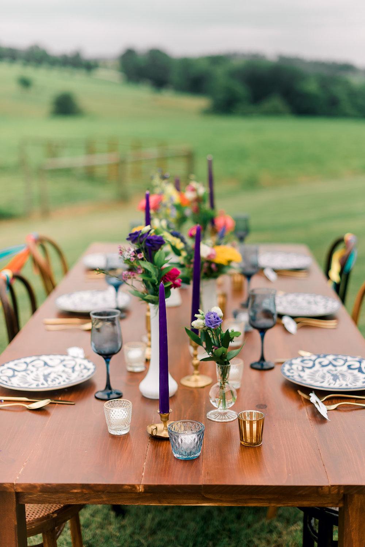 Fun & Colorful Barn Wedding Tablescape at Heaven Sent Farms in Avella Dawn Derbyshire Photography (23).jpg