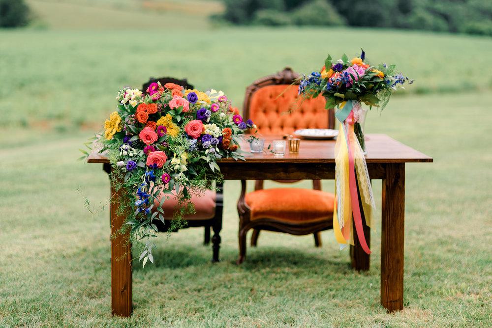 Fun & Colorful Barn Wedding Sweetheart Table at Heaven Sent Farms in Avella Dawn Derbyshire Photography  (6).jpg