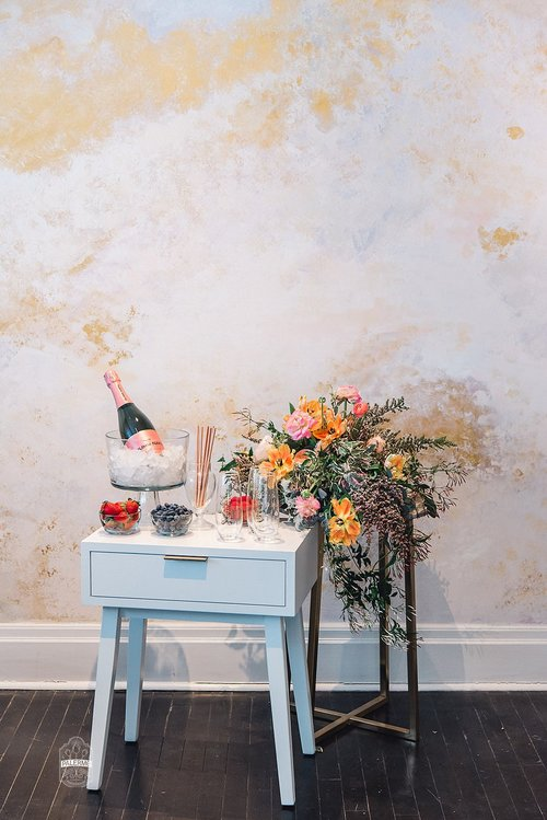 blowouts bubbly brunch spa day bridal shower inspiration at glow blotique 42