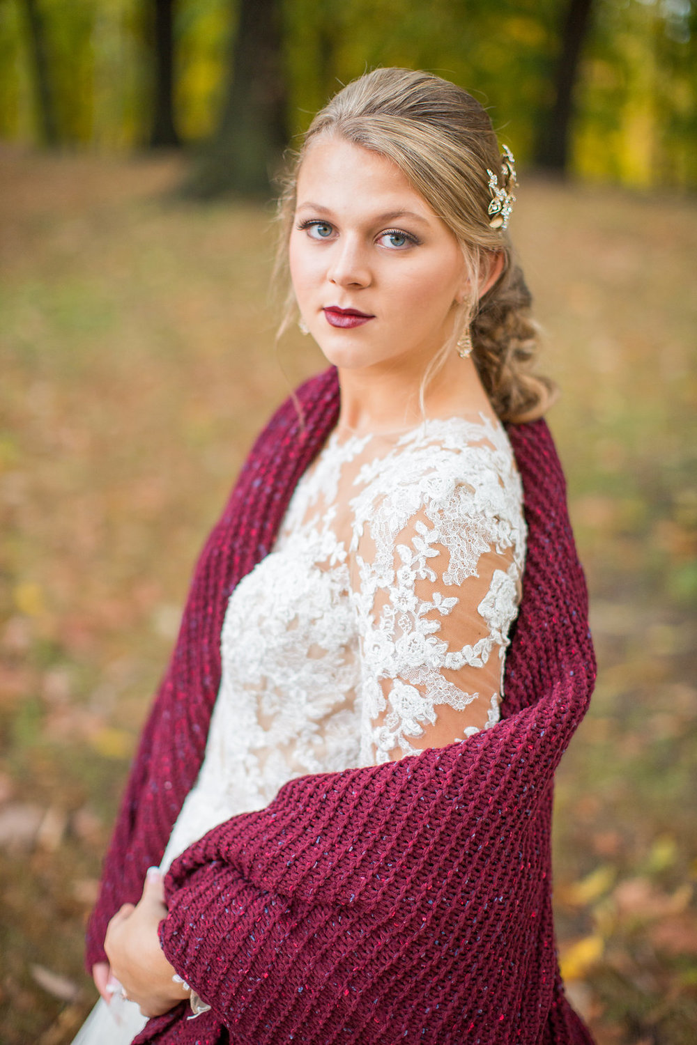Merlot + Navy Fall Wedding Inspiration at Schenley Park with Blankets - Leight Up Life Photography (218).jpg