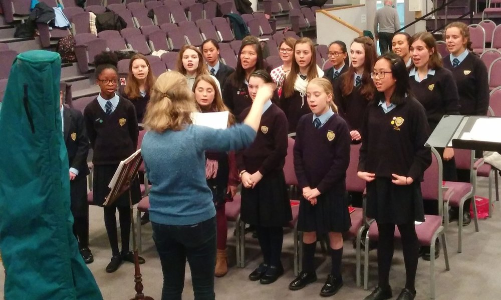 Singers from St Annes rehearsing for their performance at Central Hall