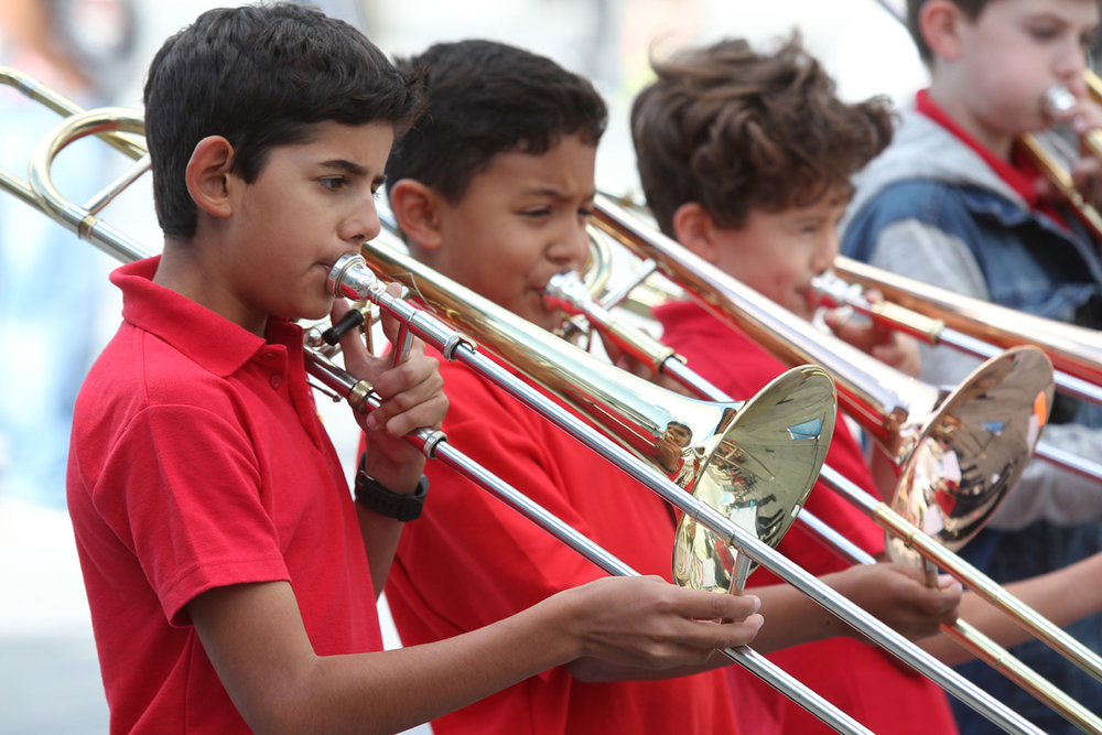 Young Brass players at Music in the City