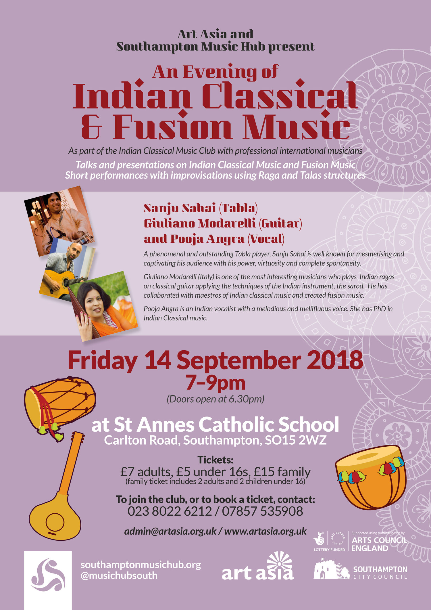Indian Classical Music Club at St Annes — Southampton