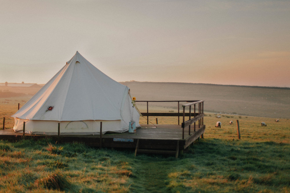 A bell tent at Koa Tree Camp // Devon, UK - Eco-Friendly Travel by The Foraged Life
