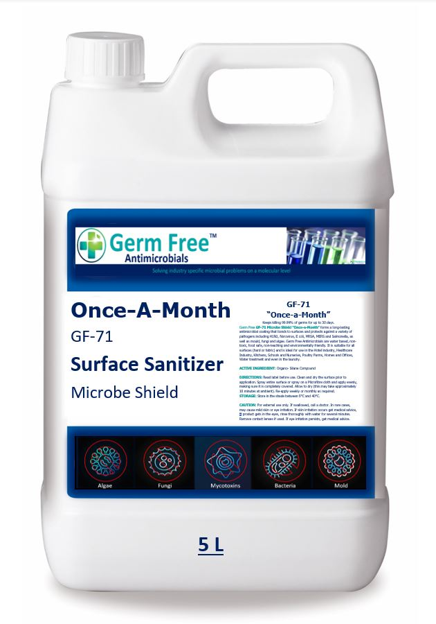 """GF-71 """"Once-a-Month""""  Surface Sanitizer"""