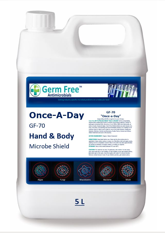 """GF-70   """"Once-A-Day""""  Hand & Skin Sanitizer"""