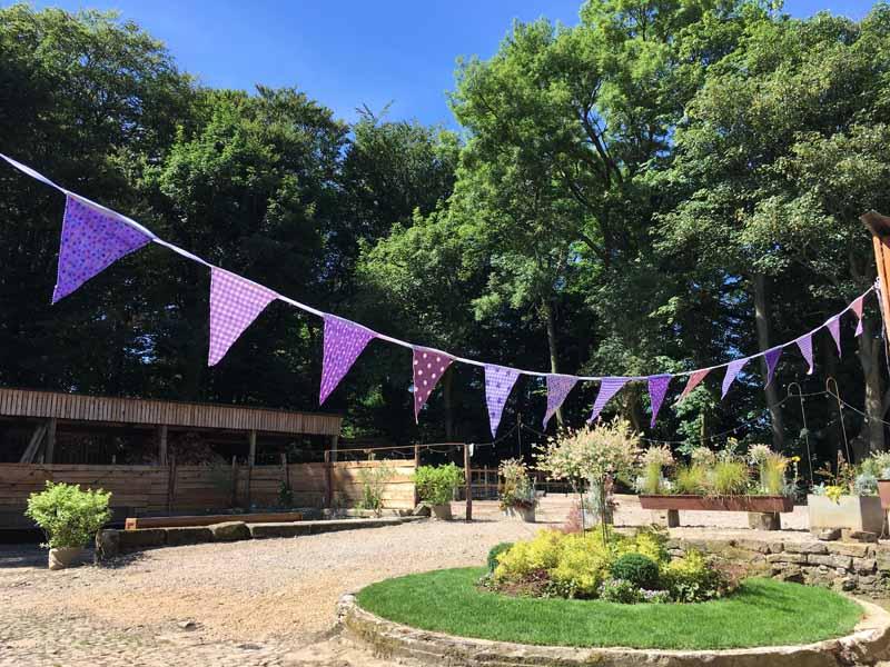Outdoor Purple Bunting