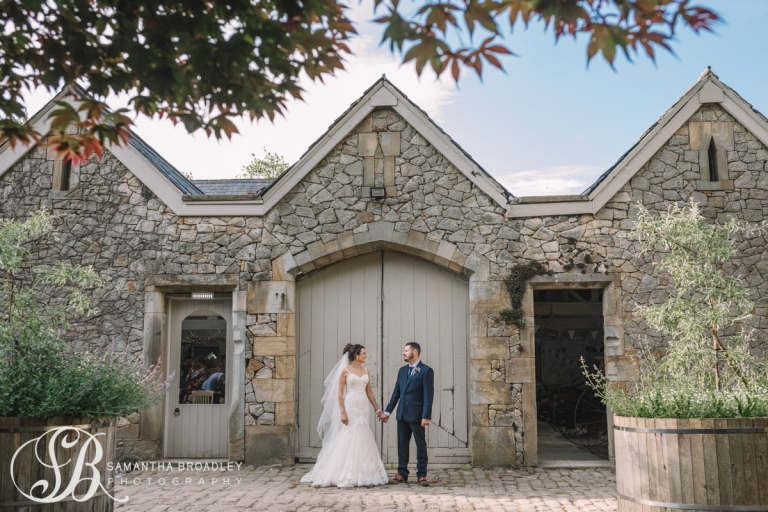Barn Door with Bride and Groom