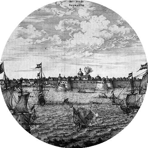 - A Dutch engraving of Surat from the 1600s.
