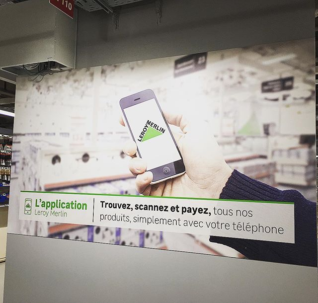 Leroy Merlin is becoming more #omnichannel in its new Madeleine store, Paris 8th well done @leroymerlin #new #store #nouveau #magasin #leroymerlin #diy #bricolage #decoration #interiordesign #decorationdinterieur #omnichannel #experience #retailexperience #showroomstore #digital #customerexperience #madeleine #paris #paris8 #june18