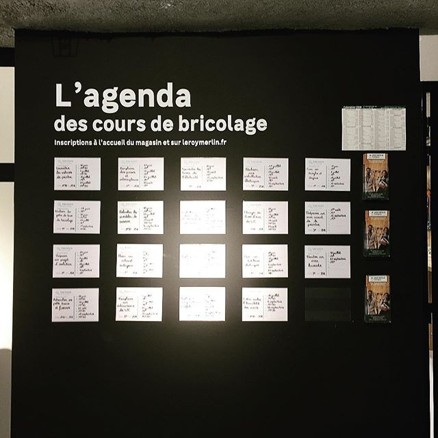 Leroy Merlin is following the #educationalretail trend in its new Madeleine store, Paris 8th offering DIY free classes in store, well done @leroymerlin #new #store #nouveau #magasin #leroymerlin #diy #bricolage #decoration #interiordesign #decorationdinterieur #omnichannel #experience #retailexperience #showroomstore #digital #customerexperience #madeleine #paris #paris8 #june18 #freeclasses #bricolage