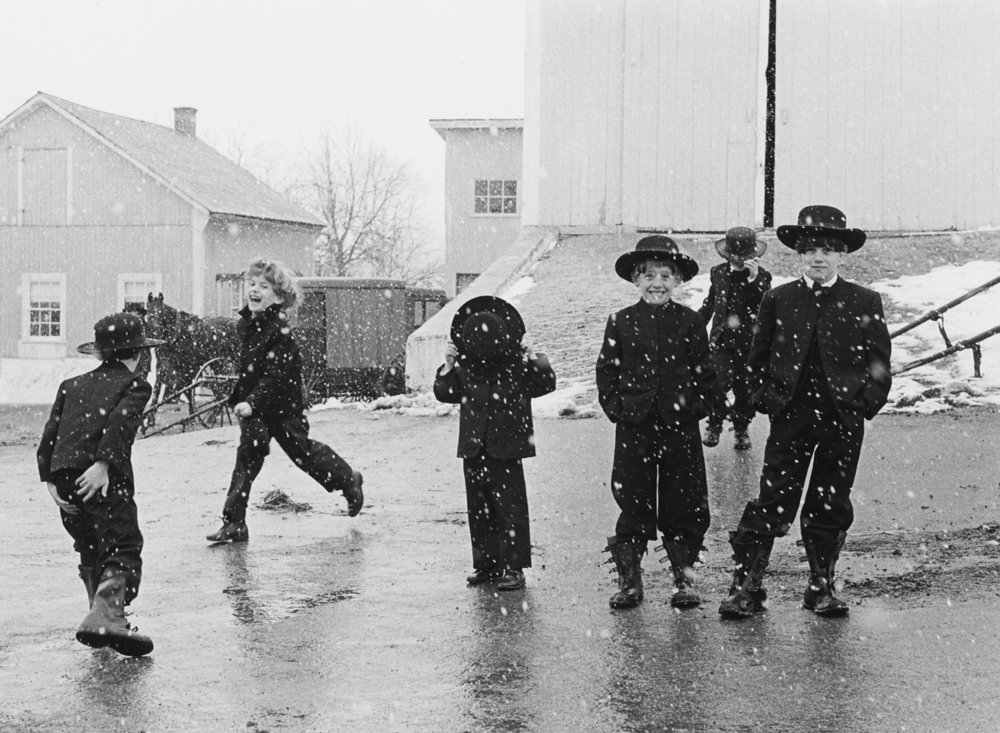 George Tice - Amish Children in the Snow, 1969 [A short video about this image.]
