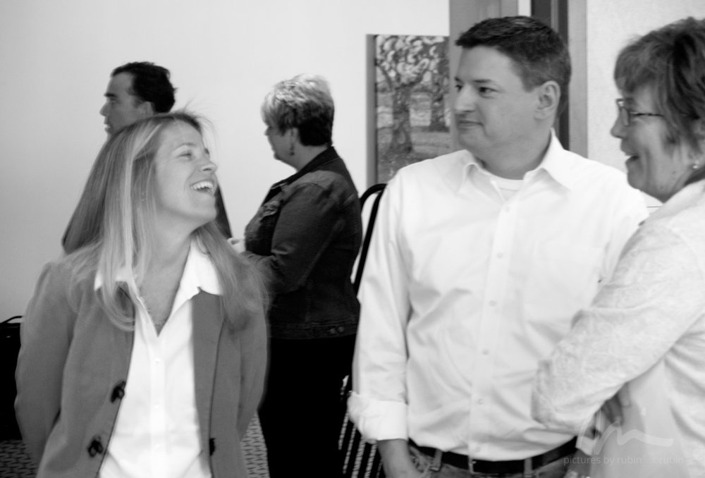 - Content Officer Ted Sarandos flanked by Talent Officer Patty McCord (co-creator of the