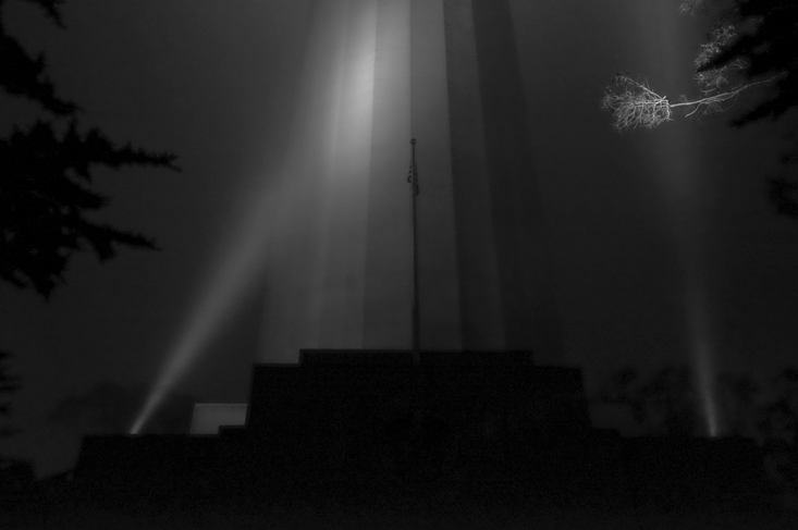 """Coit Tower, 5:32am"" 2015 (© MH Rubin)"