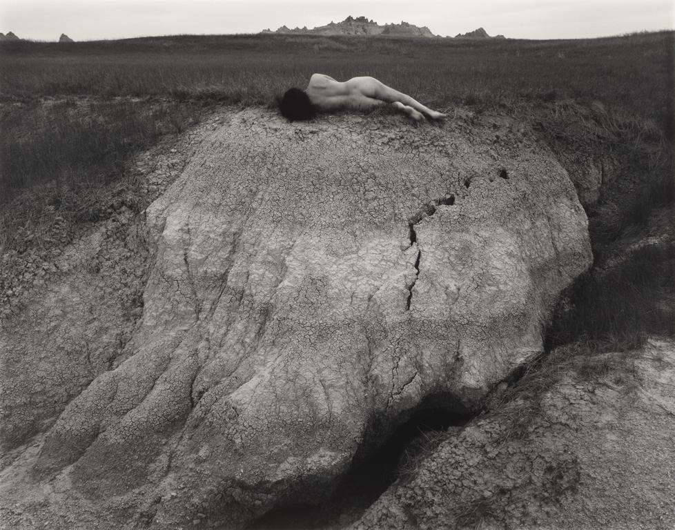 "Judy Dater ""Self Portrait at Badlands"" (1981)"