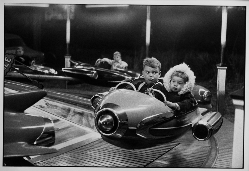 Amusement Park, London, by Henri Cartier-Bresson (1962). One of the fifty.