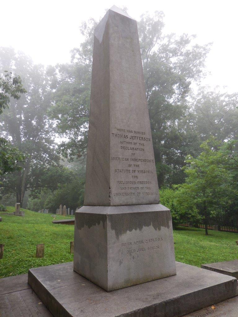 Thomas Jefferson's grave (https://www.presidentsusa.net/jeffersongravesite.html)