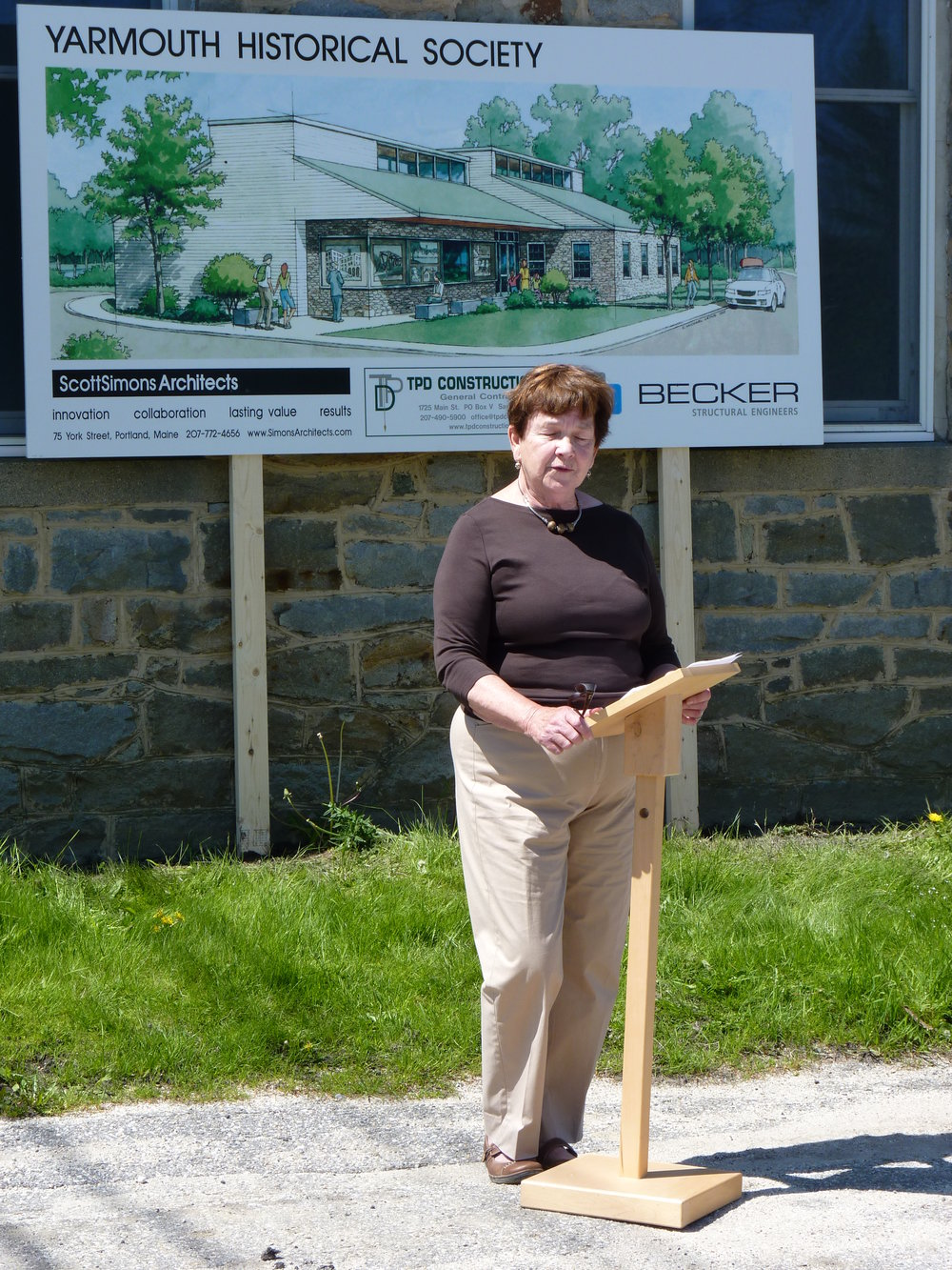 Linda at Yarmouth History Center.JPG