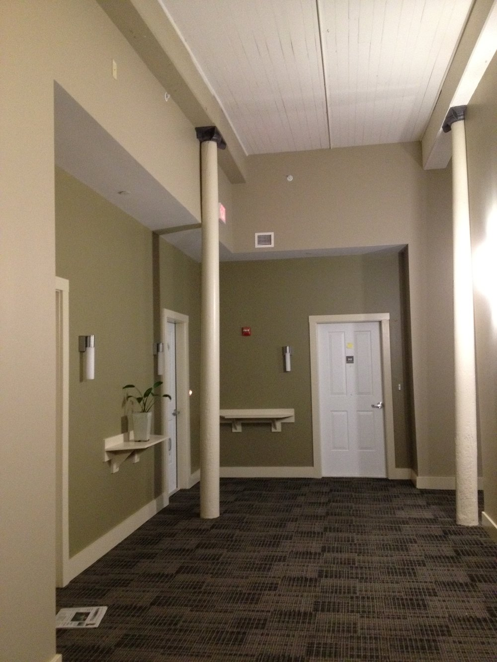 After - entrance to LBM space, 2nd floor showing ceiling.jpg