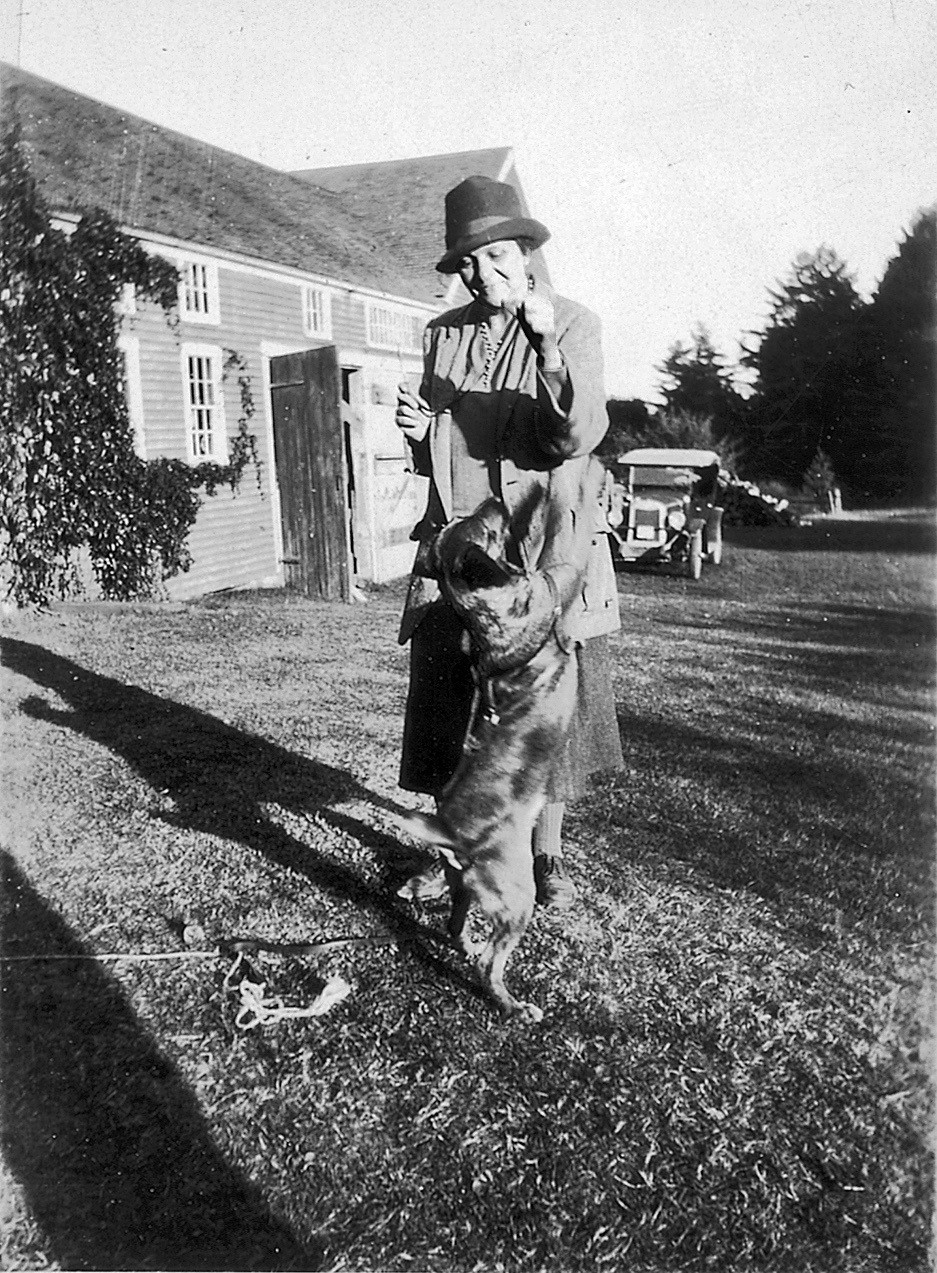 Frances Perkins & Balto c. 1940.jpg