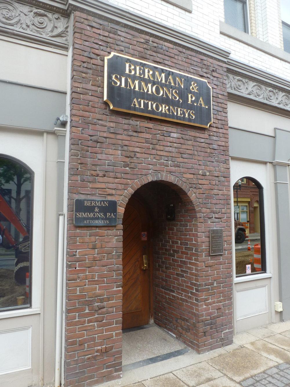 Osgood Building Entry_129 Lisbon Street_Lewiston_ME_Geoff Melhuish_5_31_2016.JPG