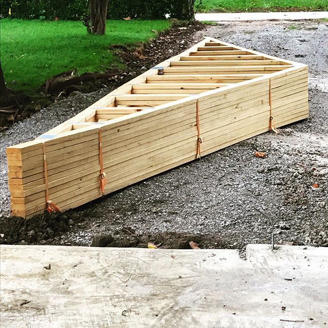 Truss me, this garage is going to be fantastic.... #punsfordays . . . #fortwayne #contractor #construction #remodeling #dtfw #fortwayneremodel #fortwaynecontractor