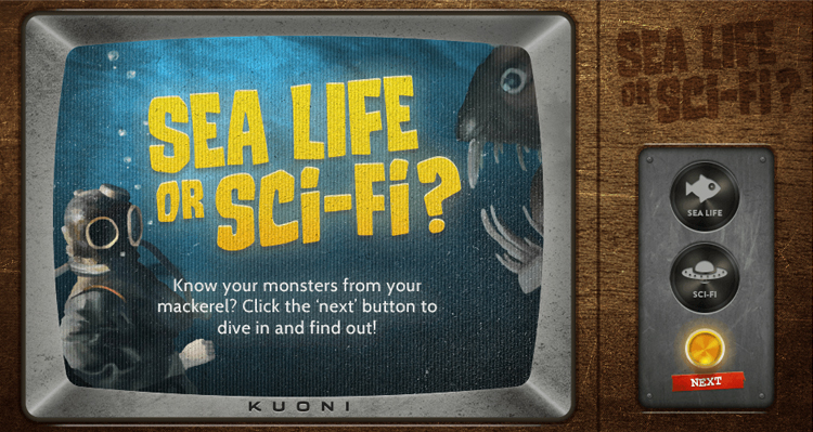 Kuoni's interactive quiz was outreached to science fiction fans.