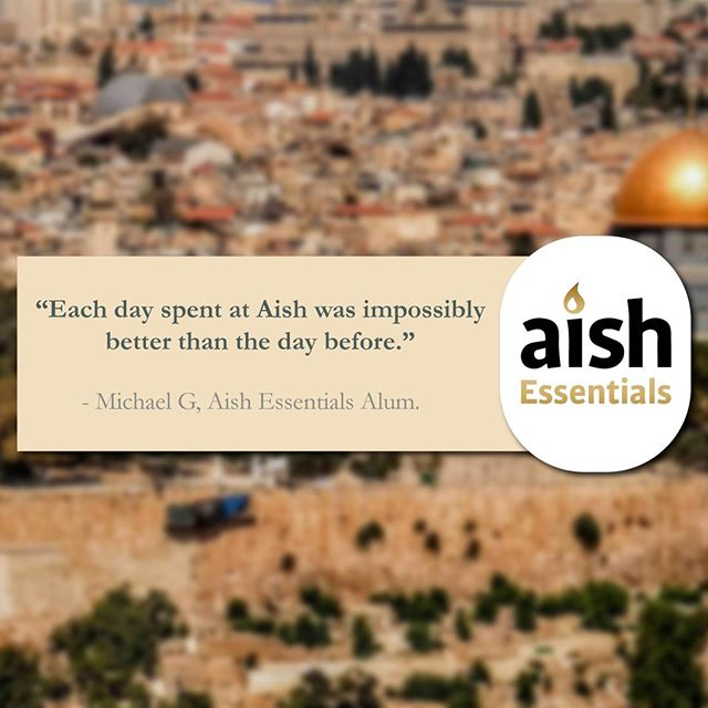 That's some mighty high praise, Michael! We really appreciate it. #Jerusalem #Israel #Learning #Growth #Torah #Education #Study #Israel #PersonalDevelopment