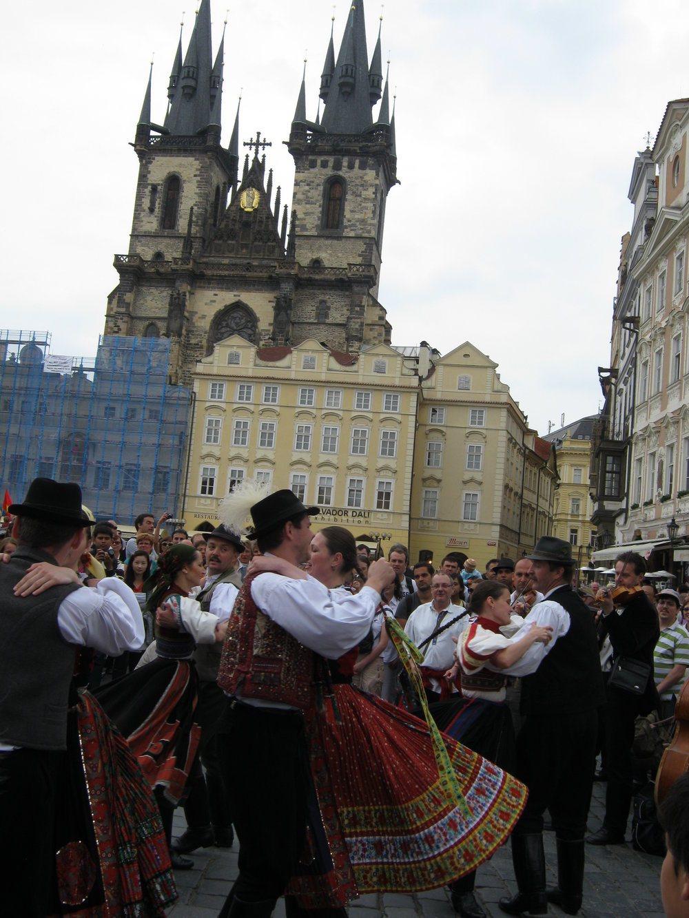 CzechRepublic_Prague_dancers at a festival in old town square.JPG