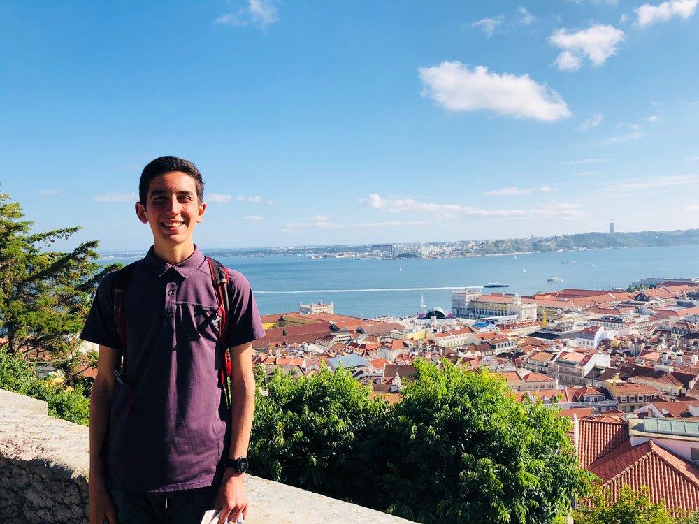Joseph at Castelo de São Jorge in Lisbon, Portugal.