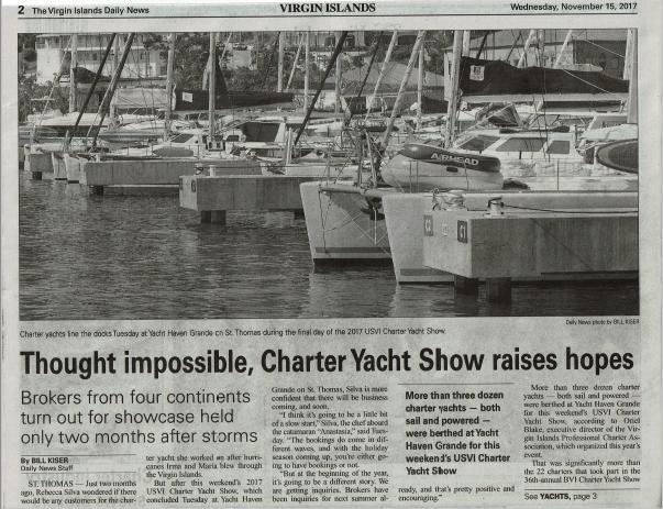 2017 BVI Charter Yacht Boat Show