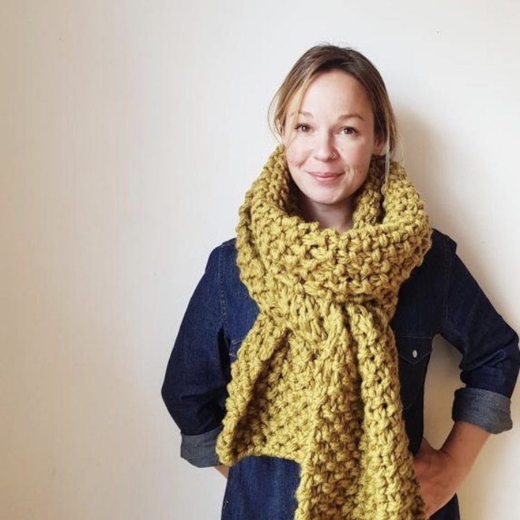 hand knitted scarfs