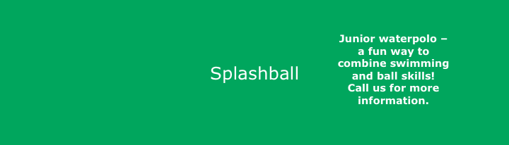 Splashball is junior waterpolo for kids, and a great way to combine swimming with ball skills. .-