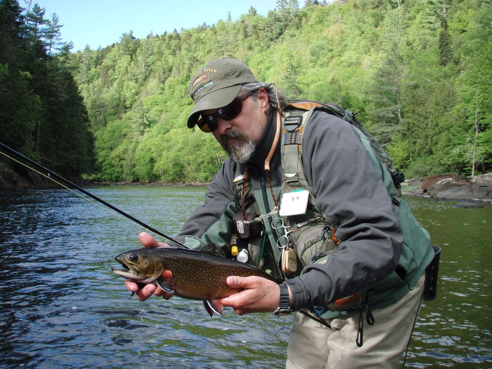 NFC Member Bob Mallard with Native Brook Trout (Kennebec River, ME) Chris Russell, Kennebec Angler.JPG