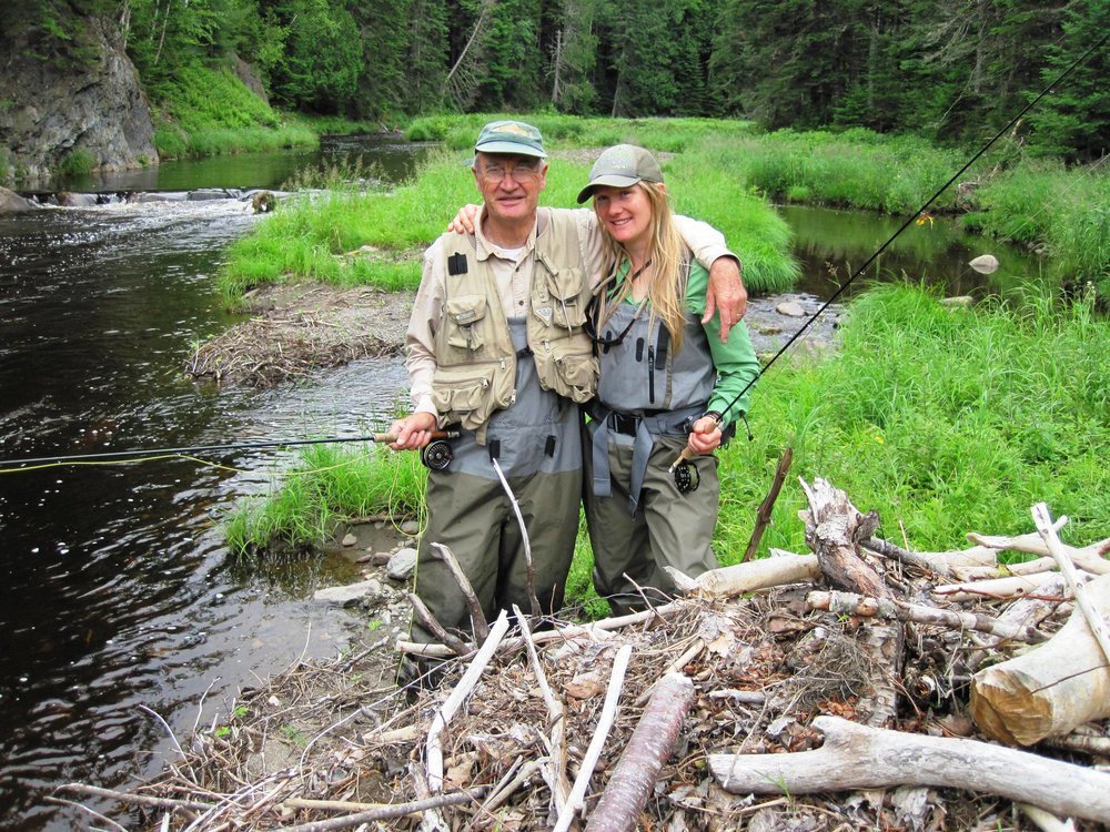Native Fish Coalition founding members Ted Williams (left) and Emily Bastian (right) photo credit Bob Mallard