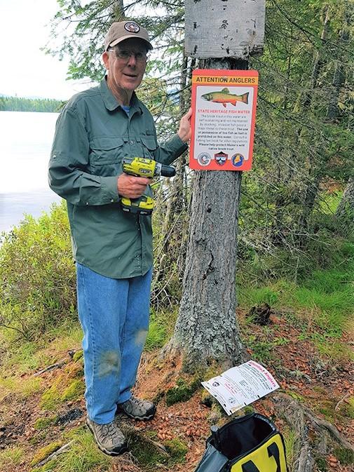 Littel Enchanted Pond. Former MDIFW Commissioner Bucky Owen.jpg
