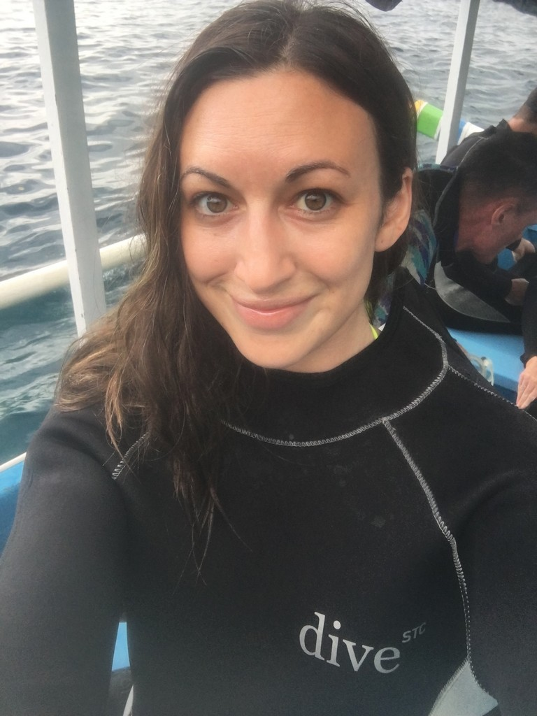 In my normal life, I woke up at 7am to put on a full face of makeup before work. In my Balinese life, I woke up at 5am for sunrise scuba dives at the most incredible sites in the world. I'd never felt happier or more alive.
