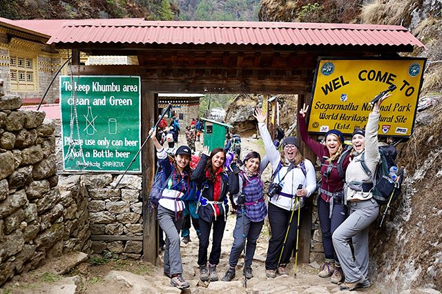 I am in the Himalayas again, with a group of badass ladies! Can't wait to reach the base camp!