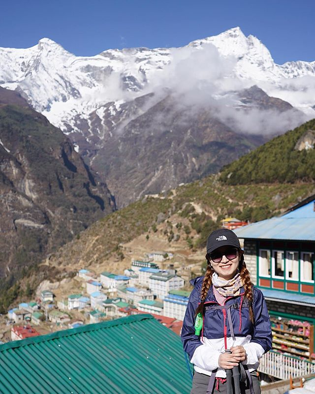 Wake up to this breathtaking view in Namche 🏔🏔🏔 photo credit: @fatgirl.hiking