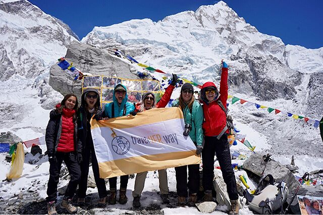 Mission accomplished! After 8 days of trekking, we were at Everest Base Camp, celebrating our big achievement! I am so thankful for having such an awesome team. It was not an easy task. But we have shared love and tears and support each other to get to the finishing point. Love you all❤️❤️❤️ @travel.her.way