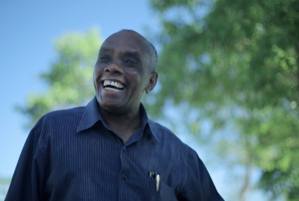 Film still of Father Joseph Philippe from  Father Joseph (2015).  Father Joseph Philippe, CSSP, founded Haiti's largest micro-credit bank for the poor with a special mission of empowering women through literacy classes, small business training, and community-building loans. He founded a 700-student K-14 school, an orphanage, a clean-water project, a reforestation program, a health clinic, radio station, and the University of Fondwa (Haiti's first rural college).