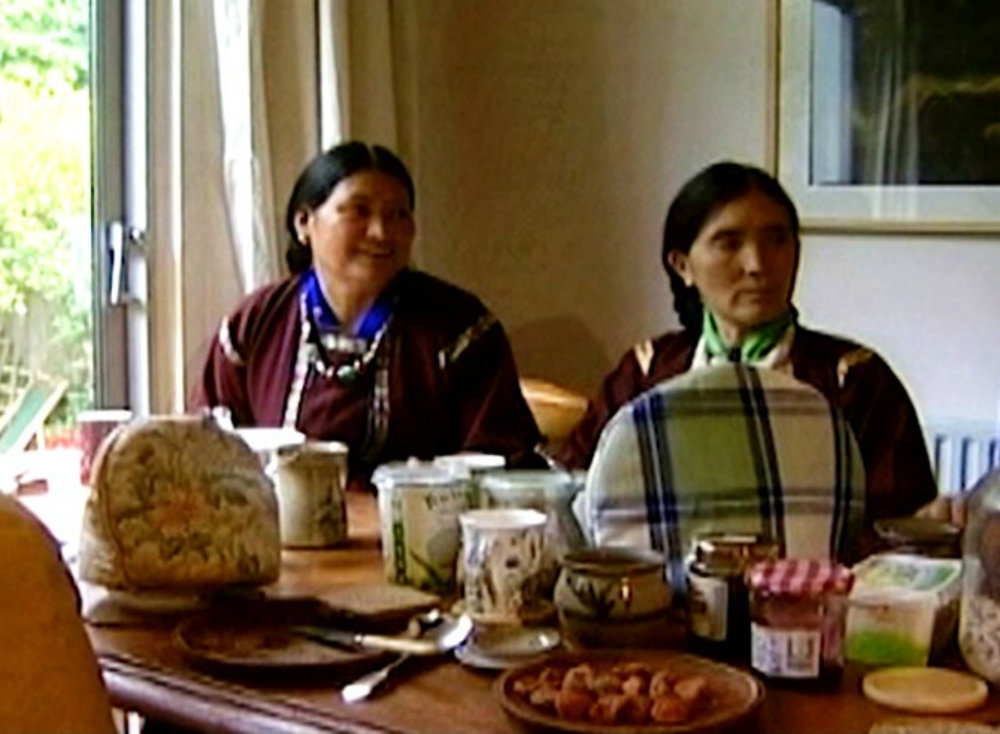 """Film still from """"Paradise With Side Effects"""" (2004) directed by Claus Schenk, featuring Dolma Tsering and Tsewang Lden of the Alliance of Ladakh.  Photo Credit: Green Planet Films"""