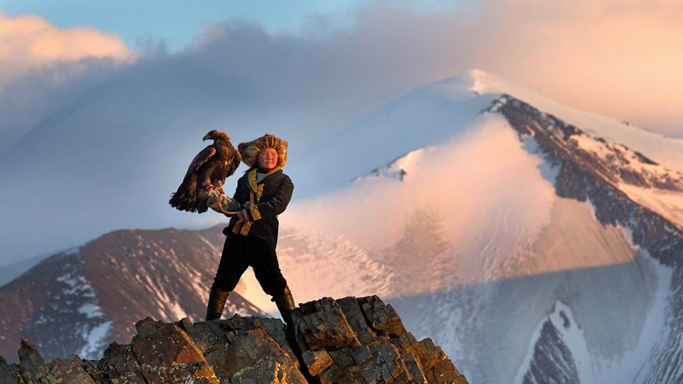 - Film still of thirteen-year-old Aisholpan from The Eagle Huntress (2016), the thrilling true story that follows her quest to become the first female in twelve generations of her Kazakh family to raise an eagle fledgling from out of the nest and enter an all-male competition with her full-grown eagle on horseback.Photo Credit: Sony Pictures Classic