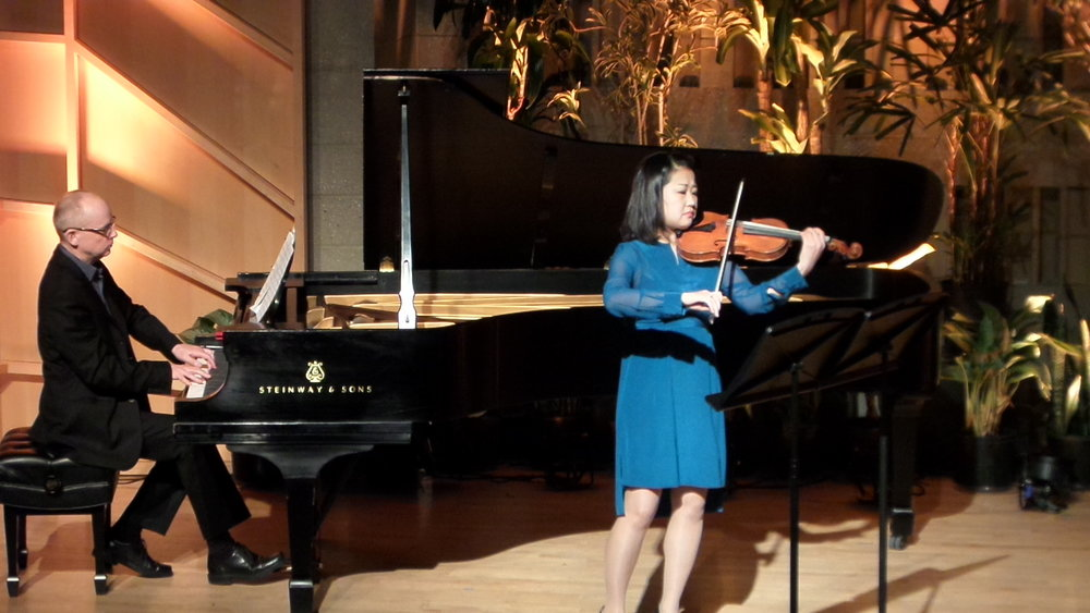 Richard Pearson Thomas, composer & pianist, and Naho Parrini, Violinist perform  ADAGIETTO/PRESTO  before the film  SYMPHONY OF THE SOIL  by Deborah Koons Garcia.